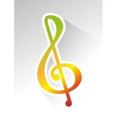 Music melody notes vector