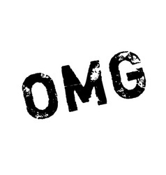 omg rubber stamp vector image