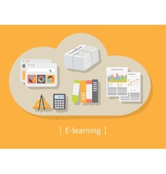 Online education and e-learning vector