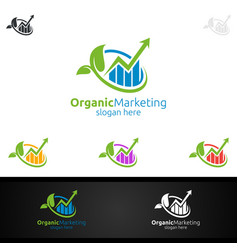 Organic marketing financial advisor logo design vector