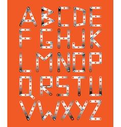 original metal font vector image