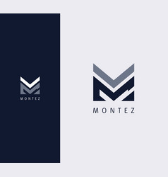 Overlay letter m logo design template vector