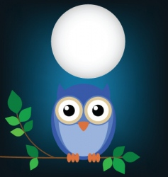 Owl night vector