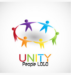 people unity teamwork vector image