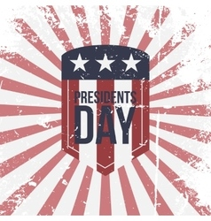 Presidents Day partiotic Label vector image