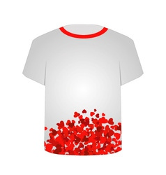 Printable tshirt graphic- Heart tee vector image