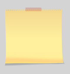 Realistic sticky notes paper sheets templates vector