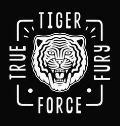 roaring tiger poster tiger force vector image