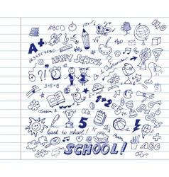 School pattern vector