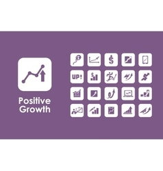 Set of positive growth simple icons vector image