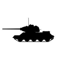Silhouette tank soviet world war 2 t34 medium tank vector