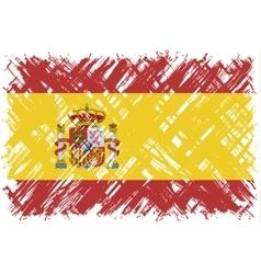 spanish grunge flag vector image