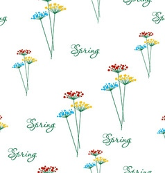 Springtime flower vector image