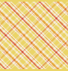 striped yellow watercolor gingham pattern plaid vector image