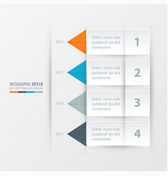 timeline report template orange blue gray vector image