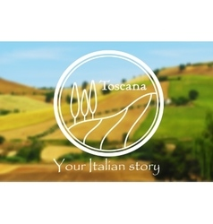 Toscana Italian landscape vector