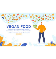 vegan food order and free delivery online service vector image