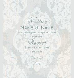 vintage baroque victorian invitation card vector image