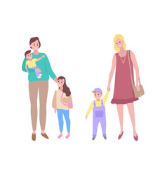 woman and child children with mothers family vector image