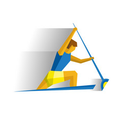 canoe sprint competition rower in the boat vector image