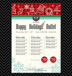 Christmas party festive restaurant menu design vector image