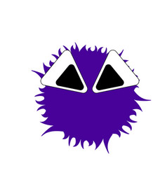 isolated cute monster vector image