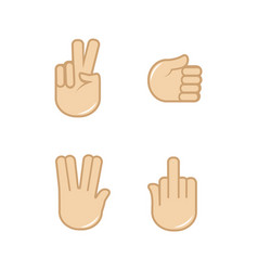 set of hand gestures icons sign language vector image vector image