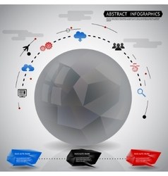 Abstract Geometric Ball Infographics Icons vector image