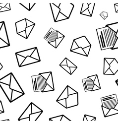 Different envelope black icons on white background vector image