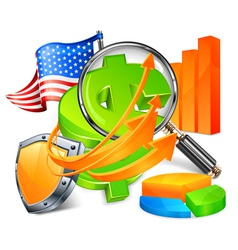 economic development vector image vector image