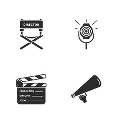 Four cinema icons vector
