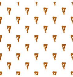 Number 7 from caramel pattern vector