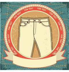 retro jeans label vector image vector image