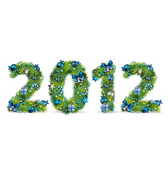 2012 christmas tree font vector image
