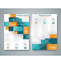 brochure template design with 3d elements vector image vector image