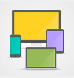 device set flat vector image vector image