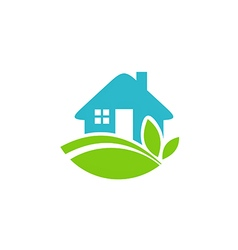 green house realty ecology logo vector image