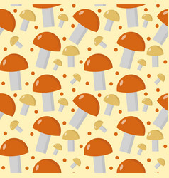 mushrooms seamless pattern boletus edulis endless vector image vector image