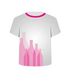 T Shirt Template- bottles vector image vector image