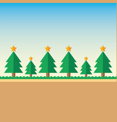 background christmas tree vector image vector image