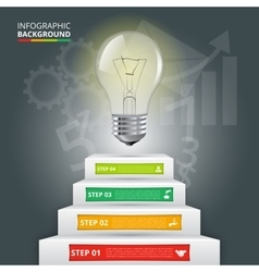 Business staircase conceptual infographic vector image