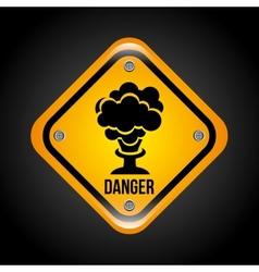 caution signal vector image