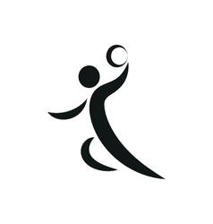 Handball player symbol for download vector image vector image