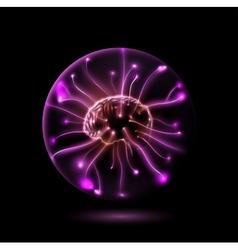 Power brain vector image