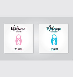 A baby shower invitations vector