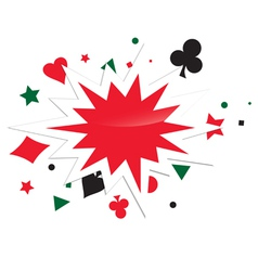 Abstract Card Game Boom vector