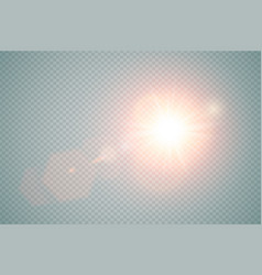 abstract red front sun lens flare translucent vector image vector image