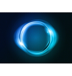 abstract round on black blue vector image