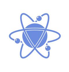Atom with orbiting electron vector