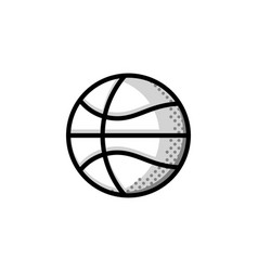 Basketball logo american sports symbol and icon vector